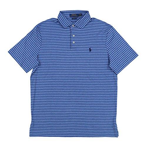 Classic Mens Shirt Stripe (Polo Ralph Lauren Mens Classic Fit Interlock Polo Shirt (XL, Pale Blue Stripes))