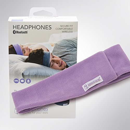 Sleepphones Wireless   Bluetooth Headphones   Ultra Thin Speakers   Lightweight   Comfortable Headband   Best For Insomnia   Includes Micro Usb For Recharging   Quiet Lavander   Fleece Fabric