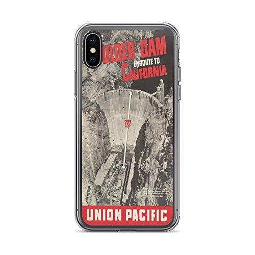 Vintage Poster - Boulder Dam 1012 - iPhone XR Phone Case