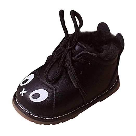 ede9790d45f2c Amazon.com: Toddler Girls Boys Classic Winter Warm Sneaker Shoes 0 ...