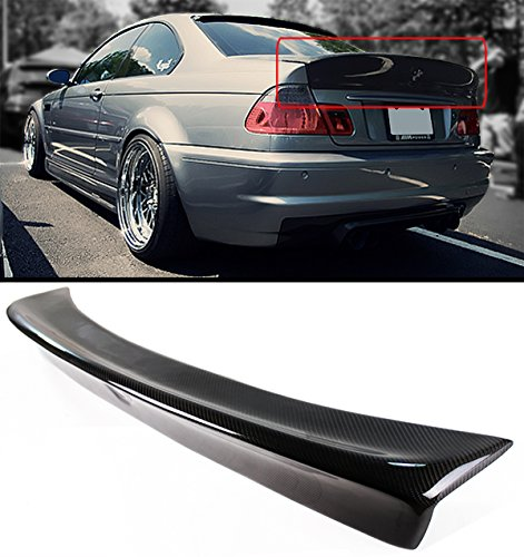 Cuztom Tuning CSL Style Carbon Fiber Rear Trunk Duckbill Highkick Spoiler Wing for 1999-2005 BMW E46 3 Series & M3 2 Door Coupe ()