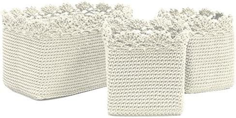Heritage Lace Cream Mode Set 3 Basket W Crochet Trim Buy Online At Best Price In Ksa Souq Is Now Amazon Sa