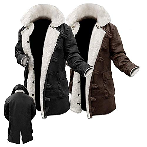 NM Fashions Men's Bane Biker Knight Hi-Quality Hardy Synthetic Leather Fur Rises Coat (Small (Suitable for Chest Size 38