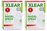 Xlear Saline Nasal Spray with Xylitol - 0.75 oz - 3 ct (2 Pack)