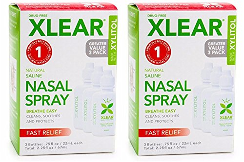 Xlear Saline Nasal Spray with Xylitol - 0.75 oz - 3 ct (2 Pack) by Xlear