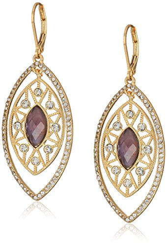 Lonna & Lilly Gold-Tone and Purple Crystal Orbital Earrings