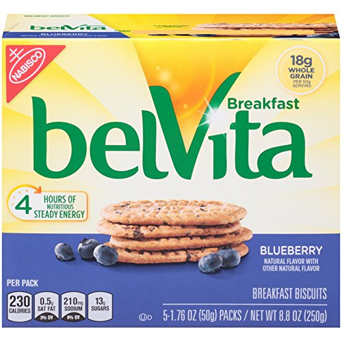 Belvita Breakfast Biscuit, Blueberry, 5 Count, 8.8 Ounce (Pack of 6) (Amazon Pantry Yogurt)