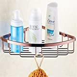 LAONA European-style rose gold ceramic bathroom accessories set bathroom towel rack racks, built-in basket 1