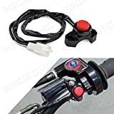 NICECNC Black Engine Kill Switch Starter Switch for all Electric Start Or Carbureted Off-road motorcycles,ATV,Monkey Bikes,Scooters,Quard