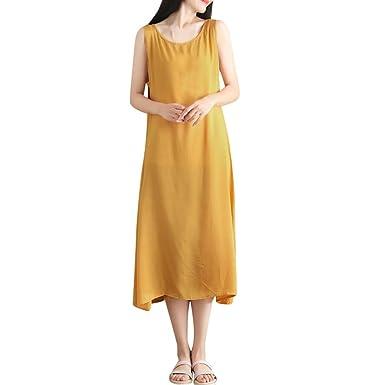 Innerternet-vestido, Tamaño grande Vestido de playa sin mangas ...