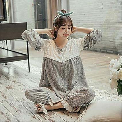 MH-RITA La mujer otoño Mangas Largas, delgadas pijamas, la versión coreana de