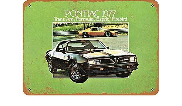 MNUT 1977 Pontiac Trans Am Letrero de Metal de Gran Aluminio ...