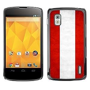 YOYO Slim PC / Aluminium Case Cover Armor Shell Portection //Austria Grunge Flag //LG Google Nexus 4