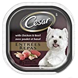 Cesar Entrees with Chicken and Beef Food for Dogs, 24 Pack/100g