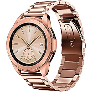 Shangpule Compatible Samsung Galaxy Watch Active (40mm) /Samsung Galaxy Watch Bands (42mm), Stainless Steel Metal Replacement Strap Bracelet ...