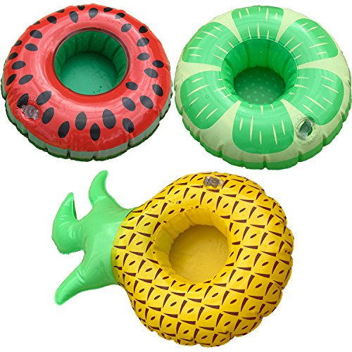 Fun and Fruity Inflatable Pool Float Cup Holders,