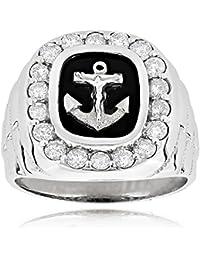 Genuine Natural Pearl And Genuine Diamond 10k White Gold Swirl Design Ring Jewelry & Watches Pearl