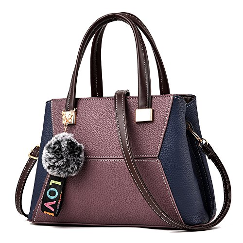 GUANGMING77 _ Bolsa Bolsa Tipo Mensajero Hombro,Vino Tinto Bag Promesa Deep purple bag promise