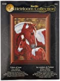 Bucilla Heirloom Collection Counted Cross Stitch Kit, 11 by 13.75-Inch, 45623 Colors of Love