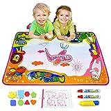 Ubetoone Aqua Magic Mat Kids Toys Water Doodle Drawing Pad Large for Boys Girls Toddlers Gift Size 34.6'' X 22.8''