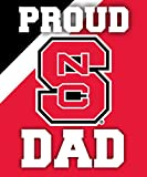 NC STATE WOLFPACK DAD MAGNET-PROUD NC STATE DAD CAR MAGNET