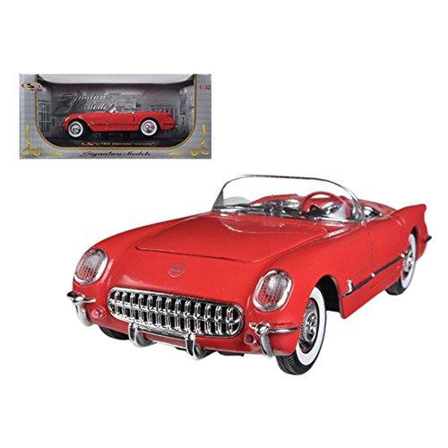 Signature Models Chevrolet Corvette Convertible (1953, 1:32 Scale diecast Model car, Red) 32429
