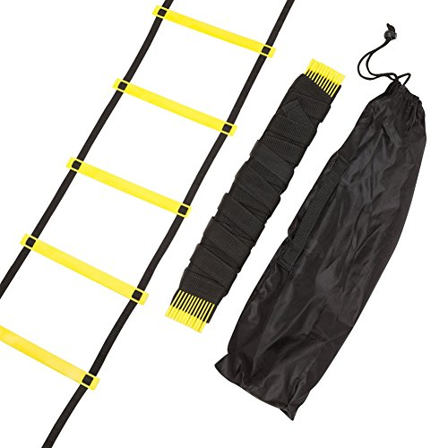 Awakingdemi Football Training Ladder,Agility Ladder Speed ladder Training ladder for Soccer, Speed, Football Fitness Feet Training with 12 Rungs