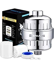 15 Stage Shower Filter with Vitamin C for Hard Water,2 Replaceable Cartridges Kit ,Shower Water Filter Removes Chlorine and Reduces Flouride & Chloramine - Fit Any Showerhead & Filtered Shower Head
