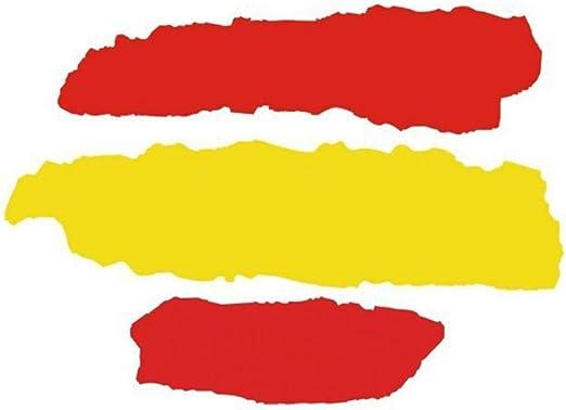 AMOYER 2 Pcs Español Bandera Etiqueta Pegatinas Decal España Espana Adhesivo para La Ventana del Ordenador Portátil De La Motocicleta Frigorífico Decoración: Amazon.es: Hogar