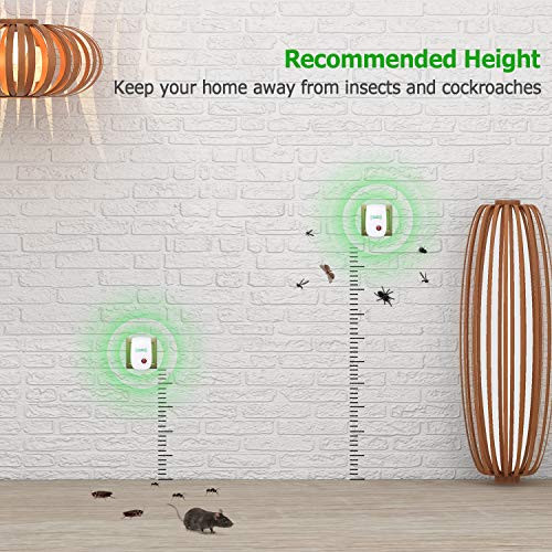 VEPOWER [2018 Upgraded] Ultrasonic Pest Repeller, Mosquito Repellent, Electronic Pest Control Plug in for Spider Ant Mice Roach and Other Insects (4 Packs) by VEPOWER (Image #5)