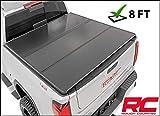 Rough Country Hard Tri-Fold Fits 2014-2018 [ Chevy ] Silverado [ GMC ] Sierra 8 FT Bed Truck Tonneau Cover 45214800