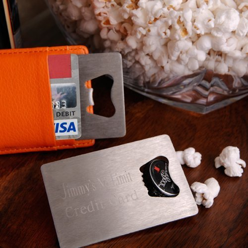 Personalized Credit Card Bottle Opener by Abernook