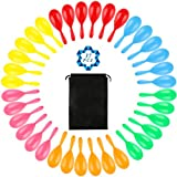 SOTOGO 36 Pack Neon Maracas Shakers Mini Noisemaker Bulk Colorful Noise Maker With Drawstring Bag For Mexican Fiesta Party Favors Classroom Musical Instrument,4 Inch,6 Color
