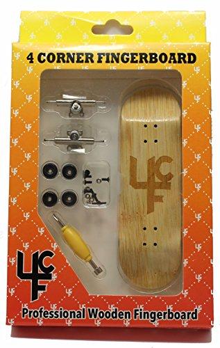 Bam Complete Skateboards (4CFB Complete Wooden Fingerboard HC Mold Laser Engraved Vert. Logo. Bamboo)