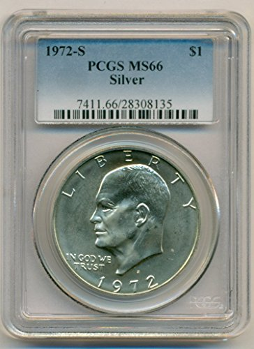1972 S Eisenhower Silver Dollar MS66 PCGS
