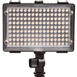 144 Bi-Color On-Camera Dimmable LED Video Light for Photo and Video
