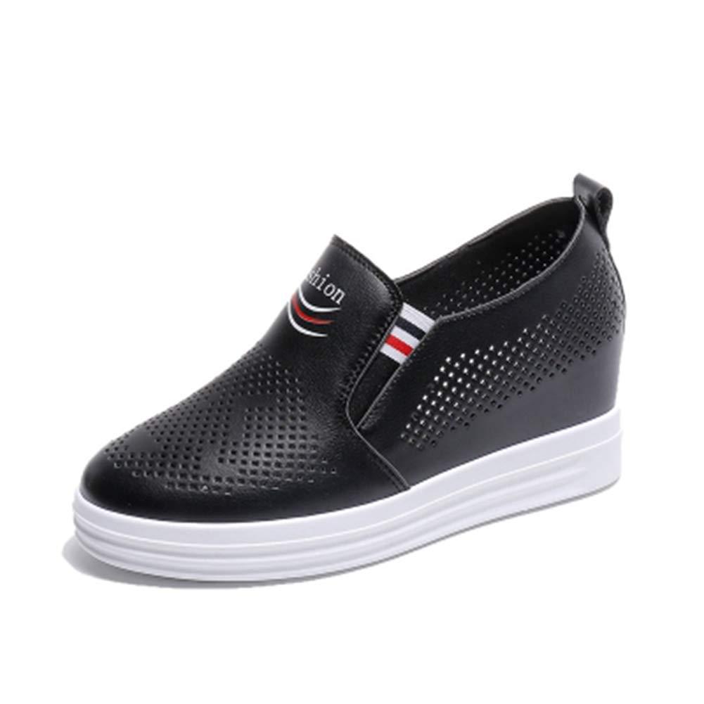 798125daff705 Amazon.com: DETAIWIN Womens Platform Sneakers Faux Leather Hollow ...