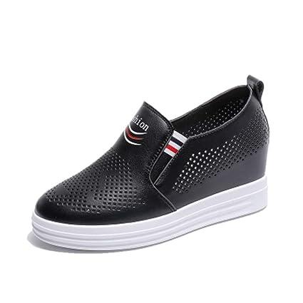 b7556015a22e0 Amazon.com: DETAIWIN Womens Platform Sneakers Faux Leather Hollow ...