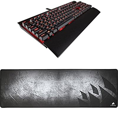Corsair Gaming K70 RGB RAPIDFIRE Mechanical Keyboard, Backlit RGB LED, Cherry MX Speed RGB and Corsair Gaming MM300 Anti-Fray Cloth Gaming Mouse Pad