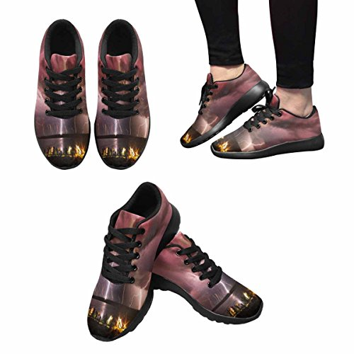 Interestprint Luminoso E Terribile Fulmine Sul Fiume Womens Jogging Running Sneaker Leggero Go Easy Walking Shoes Multi 1