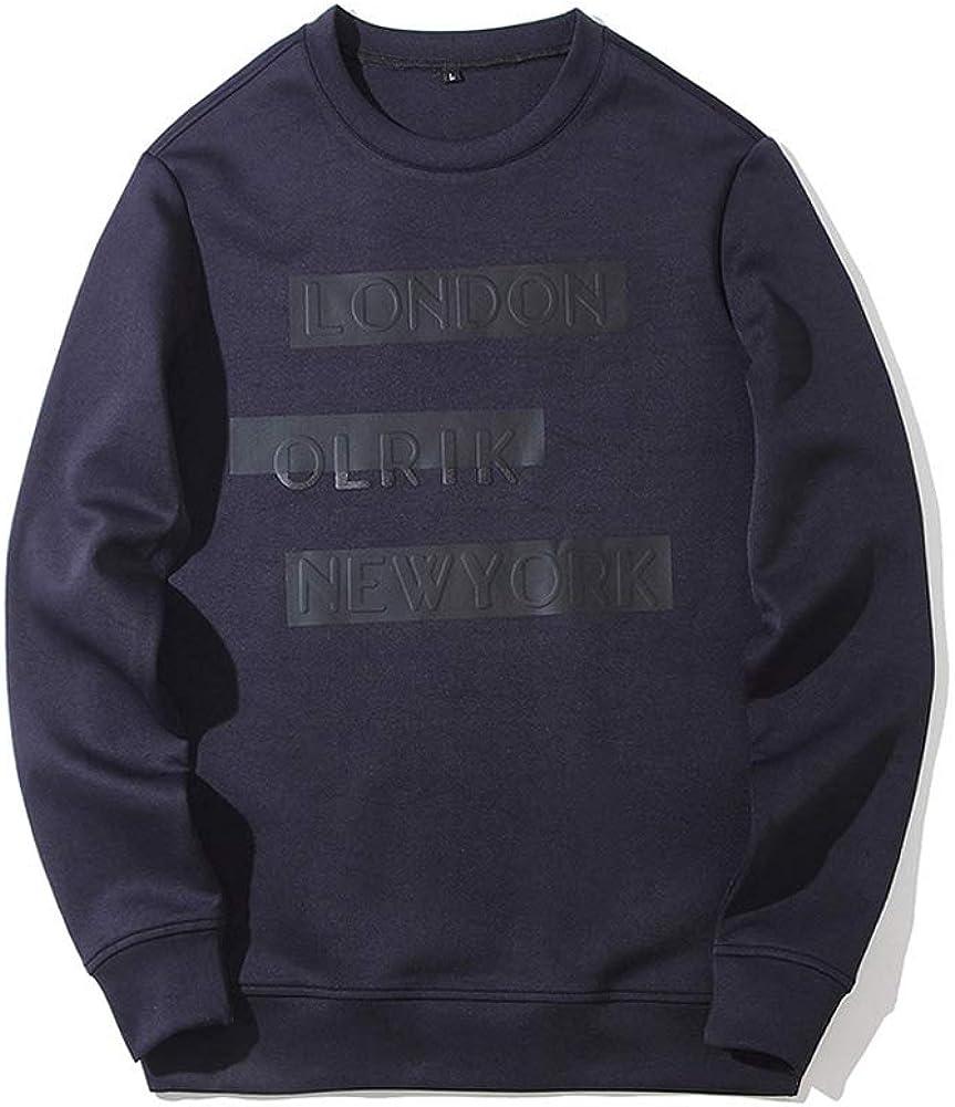 Michealboy Mens Casual Crewneck Pullover Sweatshirts Printed Pattern Hoodie