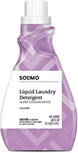 Amazon Brand - Solimo Concentrated Liquid Laundry Detergent, Lavender, 64 loads, 48 fl oz