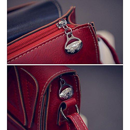Vintage Pack Université messager Rouge pour couture 1 Loisir couleur Sacoche Femme épaule école Sac Voyage Contever® 5pXxqX
