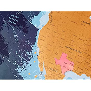 Amazon premium scratch off map north and central america premium scratch off map north and central america us canada mexico states gumiabroncs Images