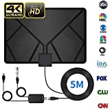 HDTV Antenna, Indoor Antenna, TV Antenna 60-90 Miles Range with Support 4K 1080p/ ATSC & All Older TV's for Indoor with Powerful HDTV Amplifier Signal Booster-2018 Upgraded Version