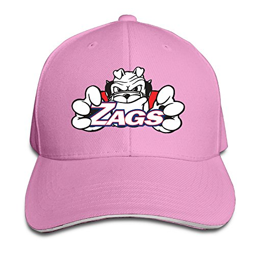 Bulldog Twill Hat - University Sport Gonzaga Bulldogs Pro-Style Sandwich Twill Peak Cap Pink