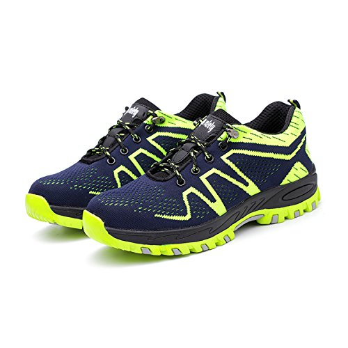 and Footwear Breathable Safety Industrial Toe Puncture Women Construction Men Work Shoes Shoes Proof SUADEX Green Shoes Steel wvXUZqU