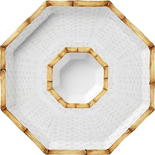 Merritt Botanica Bamboo 14'' Octagonal Melamine Chip and Dip Set by Merritt