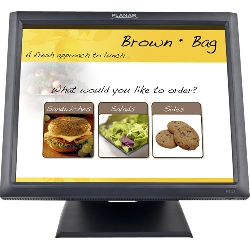 Planar Systems 997-5969-00 Model Touch Screen Monitor, PT1745R, Economical 5-Wire with Dual Usb/Serial Controller, Internal Power, Speakers, 17