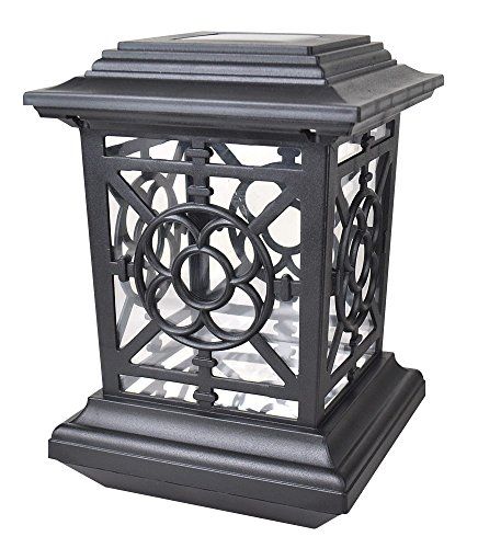 Moonrays 91189 Bancroft-Style Premium Output Solar Powered Plastic Post ()